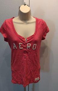 Aeropostale snap front stretch tshirt